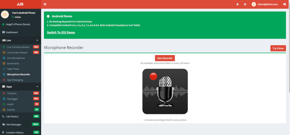 Android Microphone Recorder