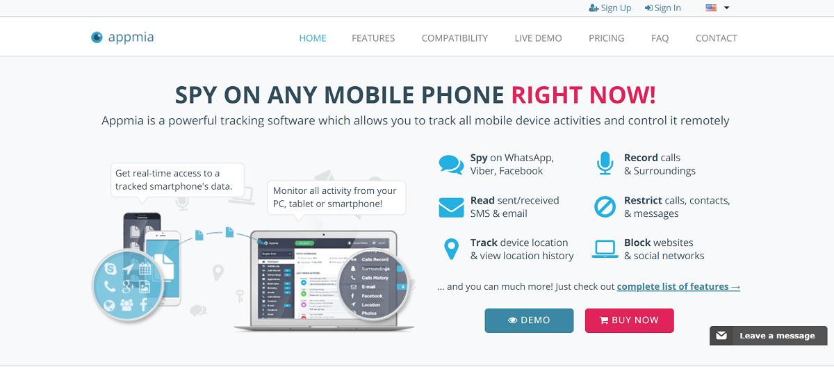 Appmia monitoring app