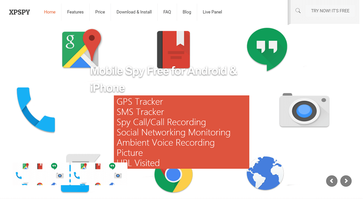 XPSPY monitoring app